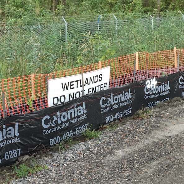 Wetland Protection Fence Installation