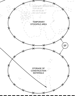 Silt Fence detail on plans