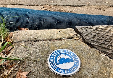 Compost filter sock for storm drain inlet protection