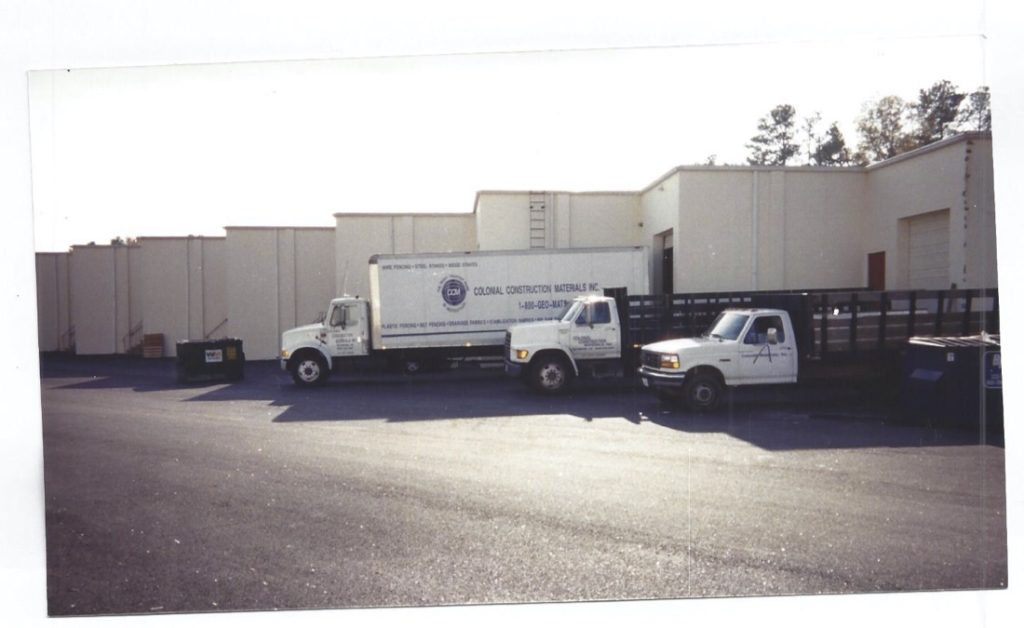 Colonial trucks staged for delivery